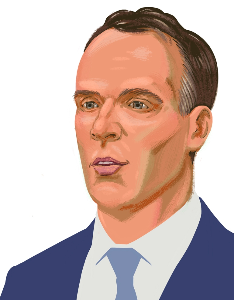 Dominic Raab from Procreate flat trim